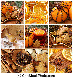 Christmas cakes and spices