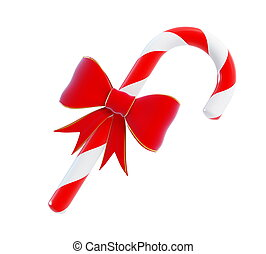 Christmas Cand red bow