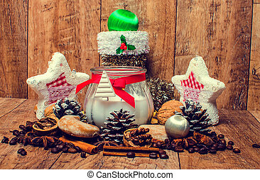 Christmas candle and spice