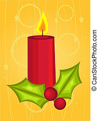 Christmas candle cartoon