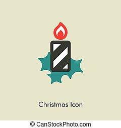 Christmas candle icon