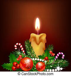 Christmas candle light