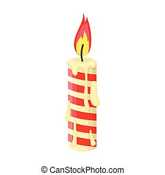 Christmas candle single icon in cartoon style for design.Christmas vector symbol stock illustration web.
