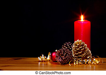 Christmas candle still life - Still life photo of a...