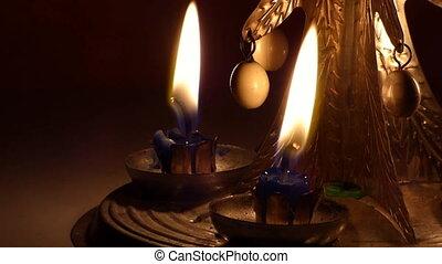 Christmas candle tree chimes