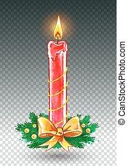 Christmas candle.