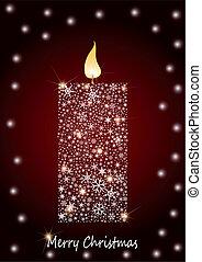 Christmas Candle - Burning christmas candle