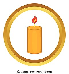 Christmas candle vector icon