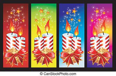Christmas Candles Banner