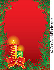 Christmas candles - Vector illustration of Christmas candles