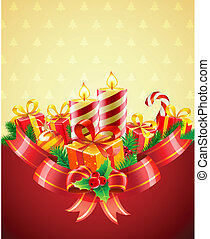 Christmas candles - Vector illustration of cool Christmas...