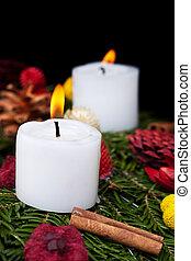 Christmas candles on advent wreath