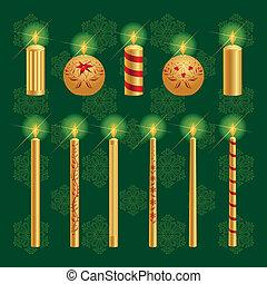 Christmas Candles Set