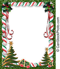 Christmas Candy and tree frame - Image and Illustration...
