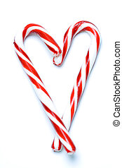 Christmas candy cane - A shot of christmas candy cane in a...