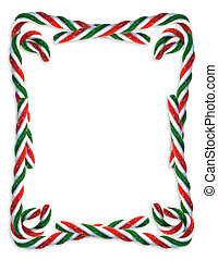 Christmas Candy Cane border - Image and illustration...