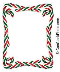 Christmas Candy Cane border - Image and illustration...