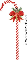 Christmas candy cane decorated