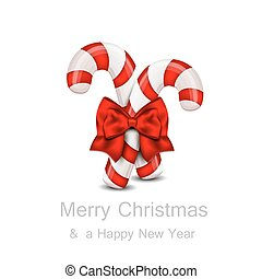 Christmas Candy Cane isolated on a white background