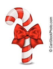 Christmas Candy Cane isolated on a white background.