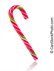 Christmas Candy Cane Isolated on White