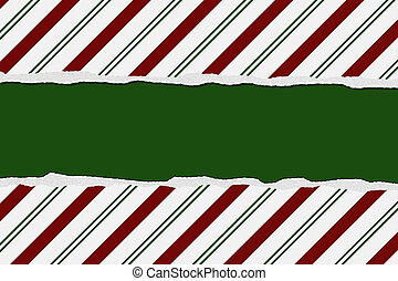 Christmas Candy Cane Striped background for your message or invitation with copy-space