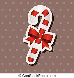 Christmas candy cane theme elements