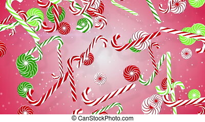 christmas candy canes loopable back