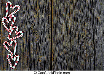 Christmas candy heart border - candy cane heart border on...