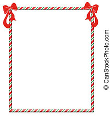 Christmas Candycane Frame - Candy cane frame with festive...