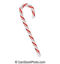 Christmas Candycane Isolated on White Illustration - A ...