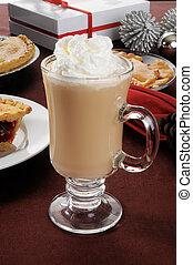 Christmas cappuccino