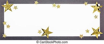 Christmas card - A black, handmade christmas card.