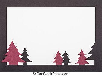 Christmas card - A handmade black and dark red christmas...