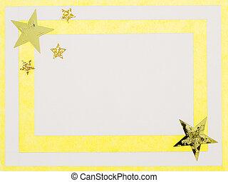 Christmas card - A yellow, handmade christmas card.