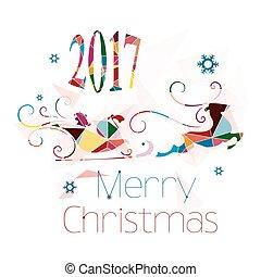 Christmas card, abstract