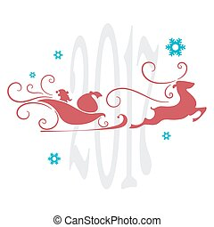 Christmas card, abstract festive background