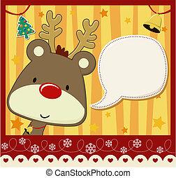 christmas card baby rudolph