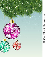Christmas card background. EPS 8 vector file included