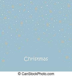 Christmas card. balls, snowflakes, tree.