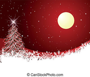 Christmas card - Beautiful Christmas (New Year) card. Vector...