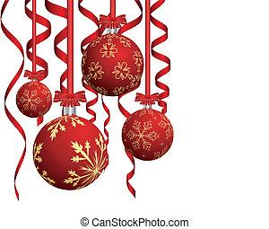 Christmas card - Beautiful Christmas (New Year) card. Vector...