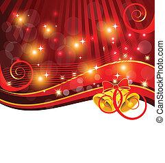 Christmas card bell template