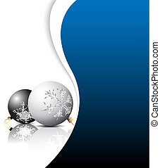Christmas card - black and white bulbs with red place for...