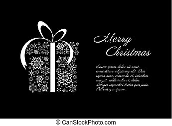 Christmas card black and white template