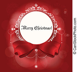 Christmas card: Christmas background with snowflakes, vector illustration.