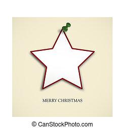 christmas card - christmas star with pin needle
