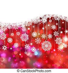 Christmas card decoration on lights. EPS 8 - Christmas card...