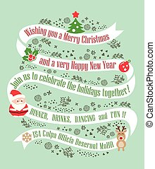 christmas card design background