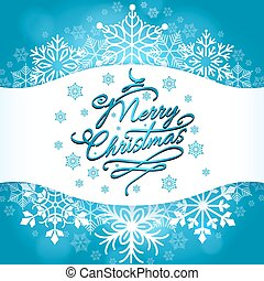 Christmas card design with white snowflakes